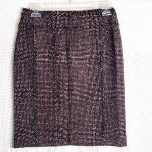 Ann Taylor Wool Blend Tweed Skirt Sz 2P   A18
